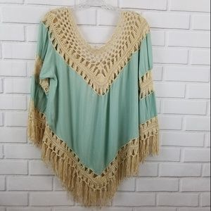 Umgee USA Crochet Lace Top Size Large